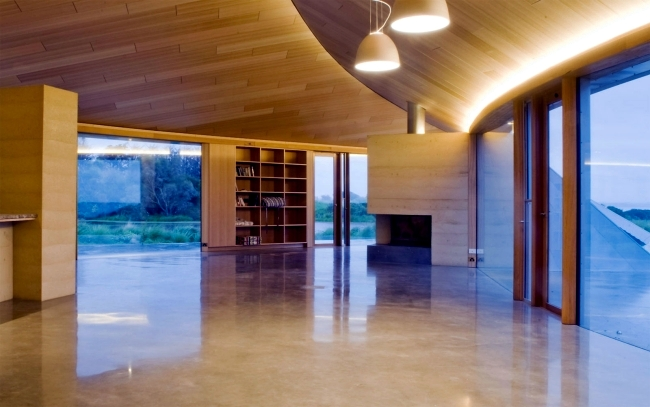 Modern Country House Design in Australia with supple natural forms