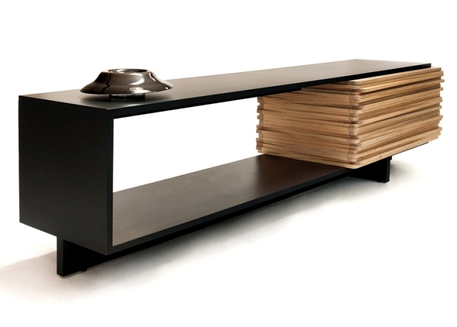 Modern designer wooden sideboard quot stack buffet by