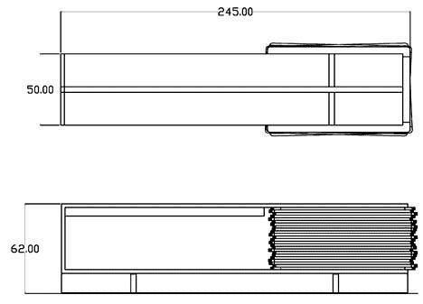 "Modern Designer wooden sideboard - ""Stack Buffet"" by Hector Esrawe"