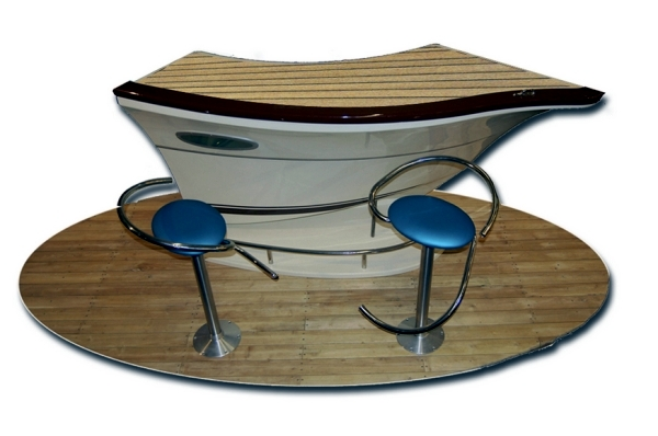 The Designs Of Meters Are Appropriate Ways For The Summer. Bar Counters  Design Inspired By Yachts Are Just The Thing For A Marine Environment.