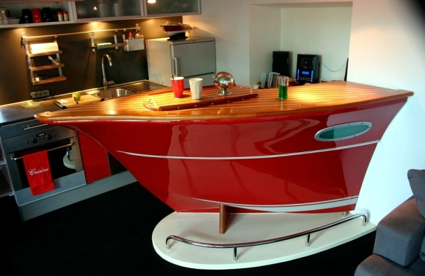 Modern designs of counters Deckline inspired by yachts