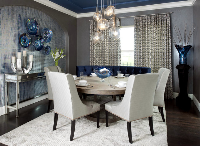 Modern dining room set Choose furniture colors and decoration