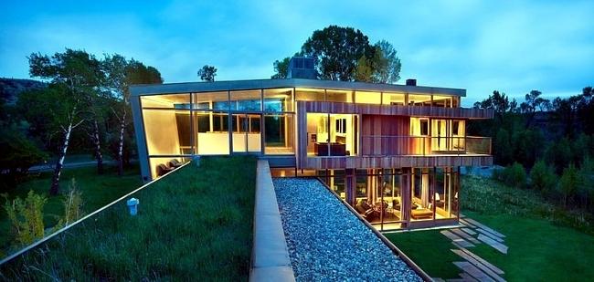 Modern Farm House Design by Highline Partners in Montana, USA