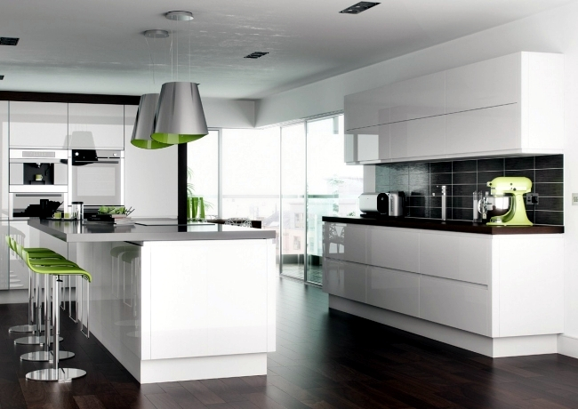 High Gloss Kitchen Design Ideas ~ Modern high gloss kitchen in white u dream kitchens with high