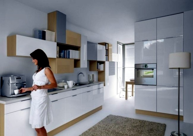 Modern high gloss kitchen in white - 20 dream kitchens ...