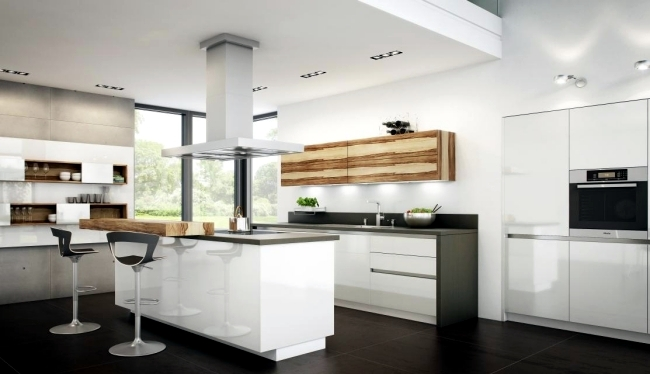 Modern high gloss kitchen in white – 20 dream kitchens