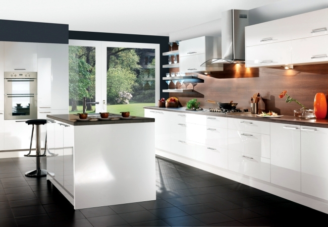 white gloss contemporary kitchens modern high gloss kitchen in white 20 kitchens 692