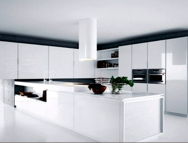 Modern high gloss kitchens with italian design interior for Modern italian style kitchen