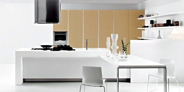 Modern high gloss kitchens with Italian design