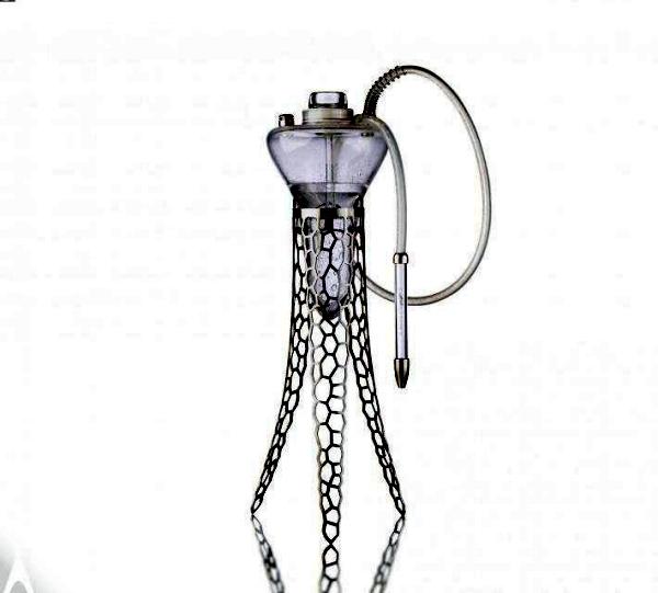 Modern hookah design impressed with interesting Medusenform