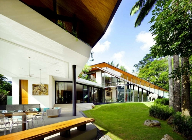 Modern house in singapore with pool and terrace dream houses