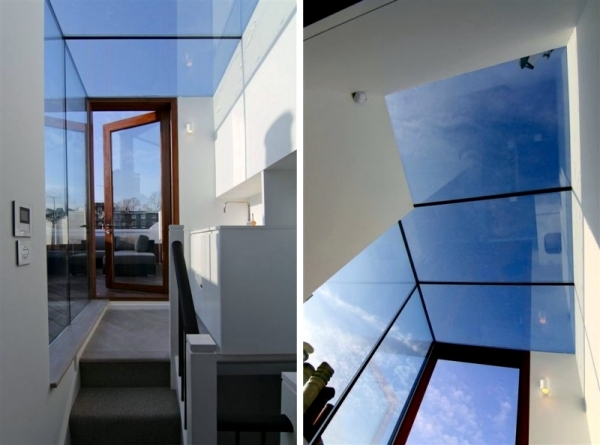 Modern House Renovation in London ground glass for bright