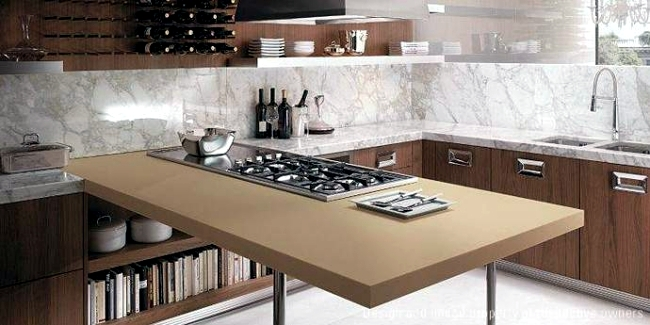 Modern kitchen countertop from DuPont serves as a wireless charger ...