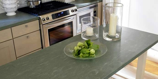 Modern kitchen countertop from DuPont serves as a wireless charger