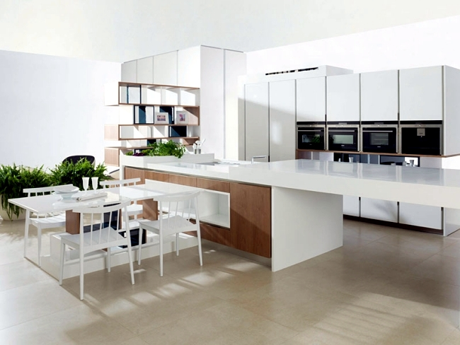 Kitchen island as a table with extension