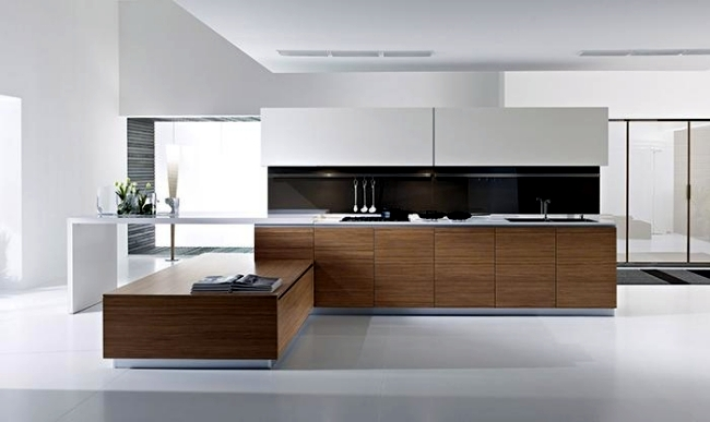 Modern kitchen with handle-less fronts - Dune Collection by Pedini