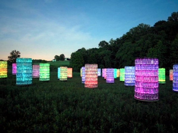 Modern Light Installation by Bruce Munro - the light as an art object