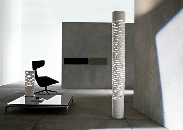 Modern lighting design of Foscarini brings light in the garden