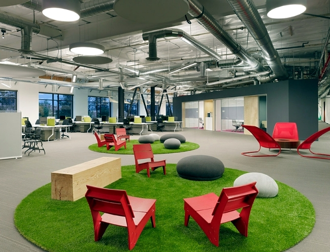 green office design. Modern Office Design Of The Skype Headquarters In Palo Alto, California Green