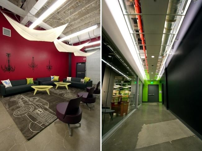 Modern office design of the Skype headquarters in Palo Alto, California