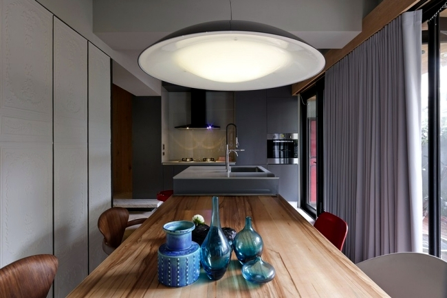 Modern office interior comfortable apartment on the day will be in the evening