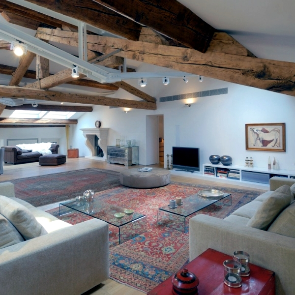 This Private Luxury Attic Apartment And Wooden Beams Reminiscent Of A Typical Italian Villa The Interior Is Made Natural Materials In Warm Tones