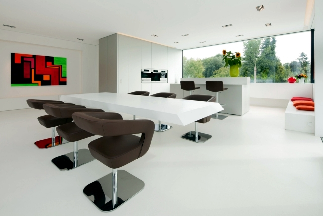 Modern Penthouse Design with establishment of HI-MACS ® Solid Surface