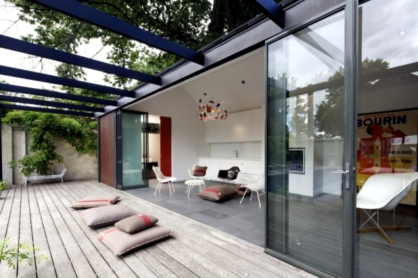 Modern pool house design in australia with natural shading for Pool designs victoria