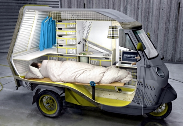 Modern RV – travel by tricycle through the world | Interior Design ...