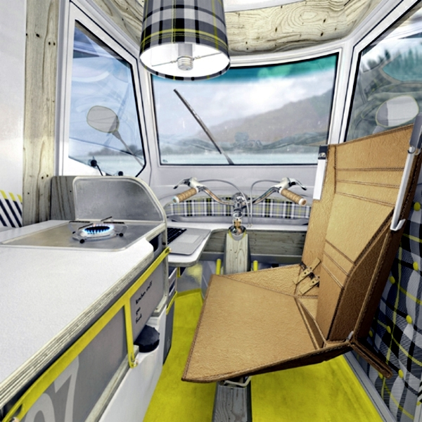 Modern RV - travel by tricycle through the world