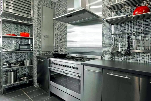 modern stainless steel kitchens and classic metal accents interior rh ofdesign net