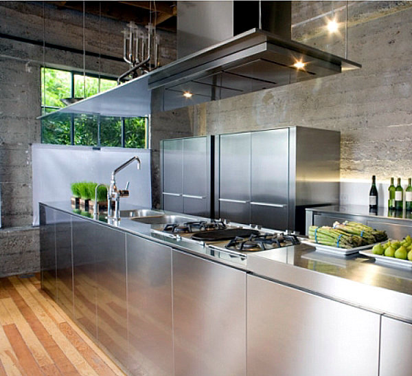 15 Contemporary Kitchen Designs With Stainless Steel: Modern Stainless Steel Kitchens And Classic Metal Accents
