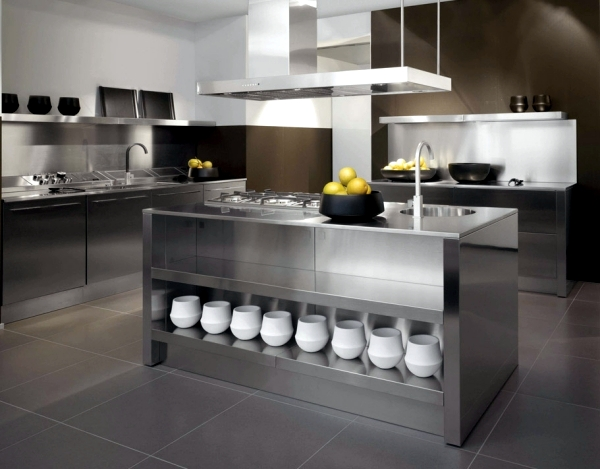The Two Are One Of Easiest Ways To Add A Metallic Sheen Without Modification We Start With Kitchen Island Stainless Steel Stands On Wooden