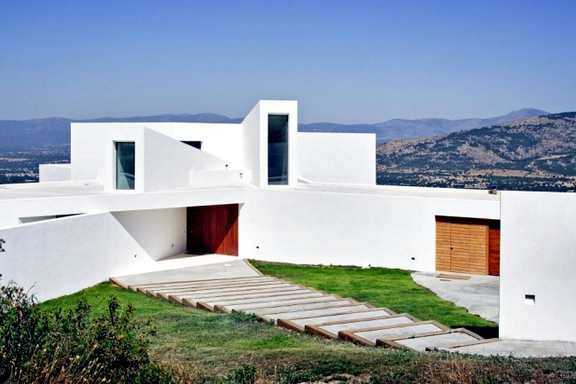 Modern Villa On Marble Stone Foundation Blends With The