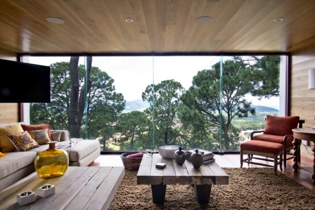 Amazing Modern Wood House On A Steeply Sloping Site In Mexico
