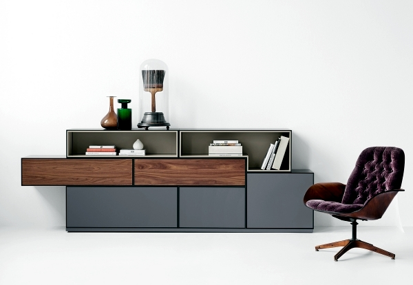 Modular shelves and sideboards - assemble the furniture from boxes