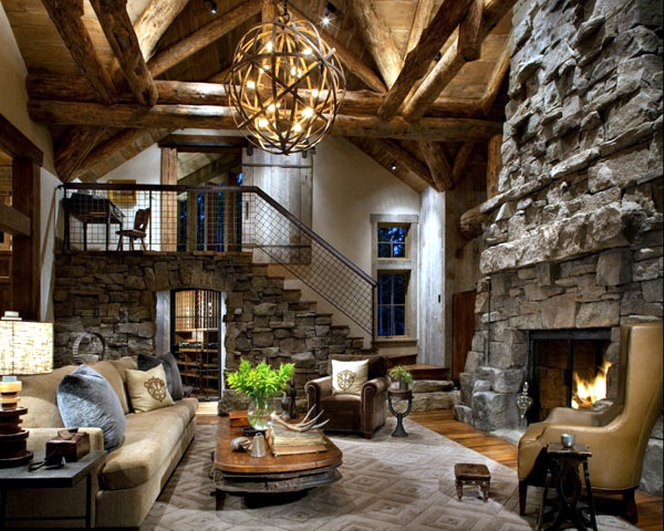 Wood and stone cottage