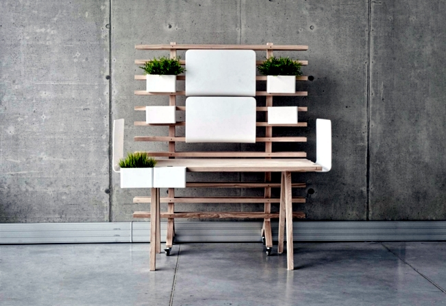 Multifunctional office desk offers numerous options for modification