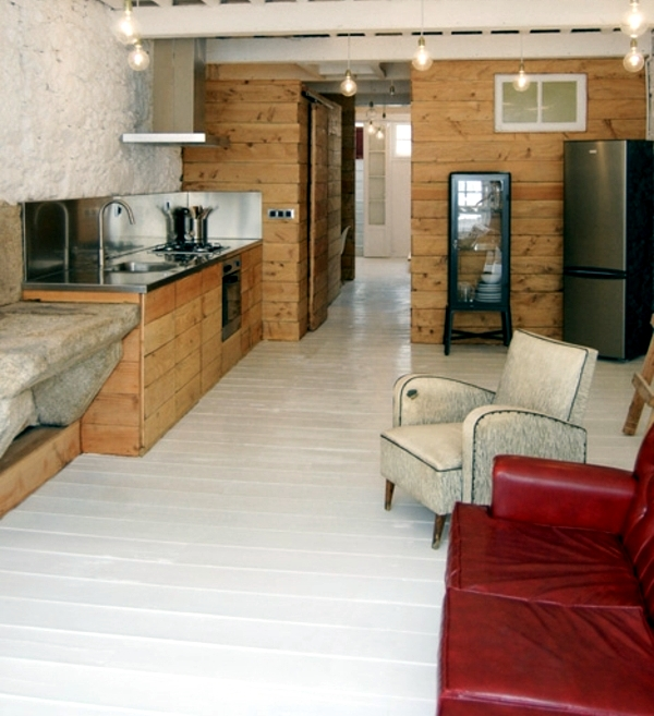 Narrow Apartment set-white aesthetics with a rustic touch