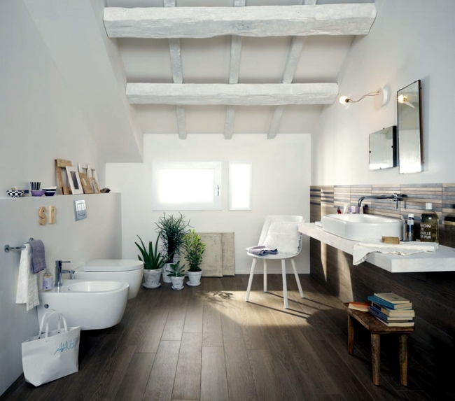 Natural materials in the bathroom - environmentally friendly and a strong trend