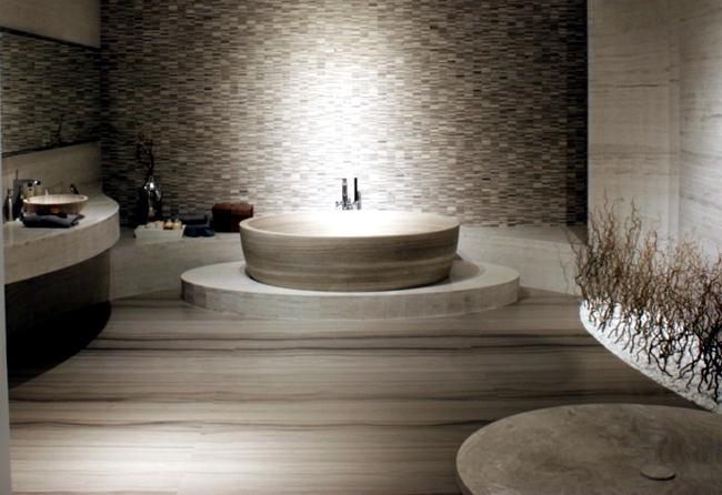 Natural stone in interior design - bricks, slabs or tiles?