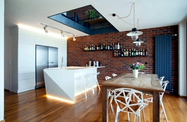 Natural stone in the kitchen - stone look for creative wall design