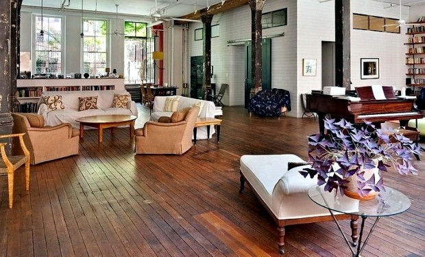 New York loft slightly bohemian