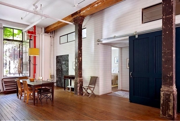 New York loft slightly bohemian