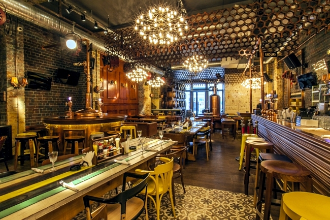 night club in bucharest biutiful thrilled with rustic interiors