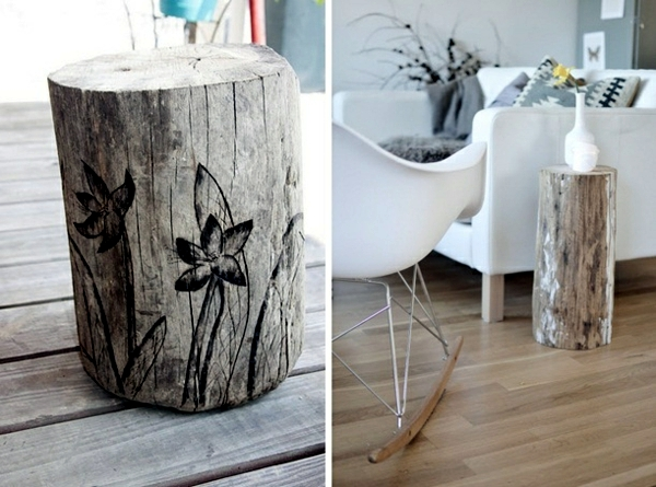 Of Decoration And Furniture From Tree Trunk Itself 15 Fast Craft