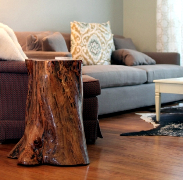 Of Decoration And Furniture From Tree Trunk Itself 15