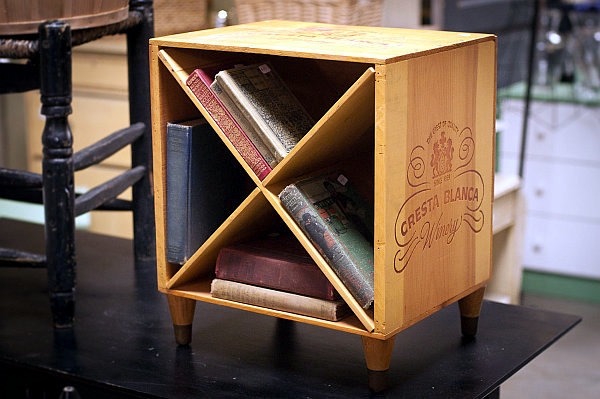 Old wooden wine boxes with new uses-as furniture and decoration at home