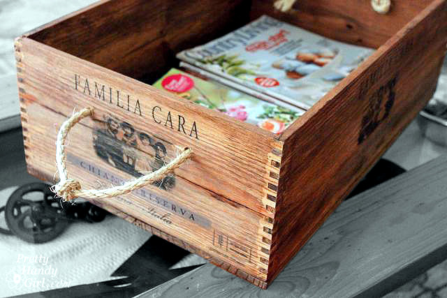 Old wooden wine boxes with new uses as furniture and for Uses for old wooden crates