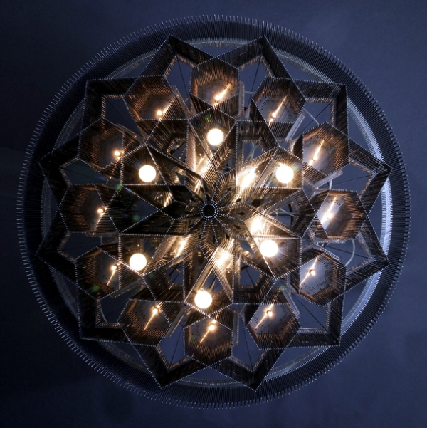 Opulent chandeliers made Willowlamp design of steel by hand